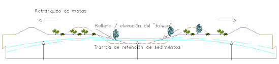 Scheme for the restoration of banks in the environment of Tablas de Daimiel National Park