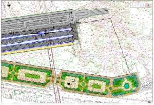 Plans of the Linear Park for the AVE Railway Station in Huelva